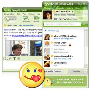 enviar mensaje yahoo messenger:
