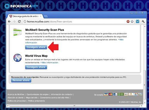 Antispyware online: McAfee