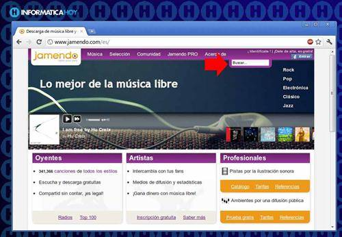 Descargar música gratis legal con Jamendo