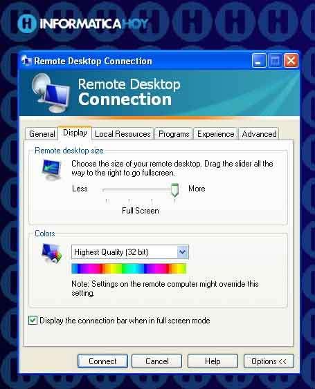 Escritorio remoto - Conexion a escritorio remoto windows xp ...