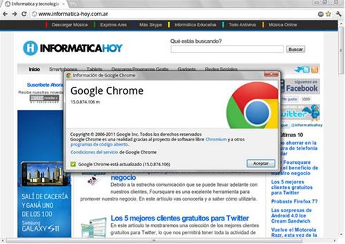 Google Chrome 15 listo para descargar