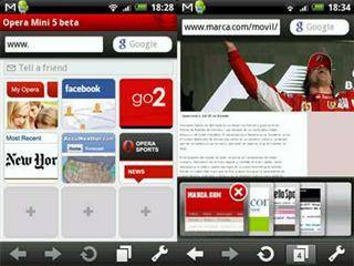 Browsers para smartphones: Opera Mobile
