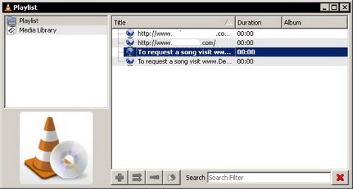 Television y radio on-line por internet con VLC