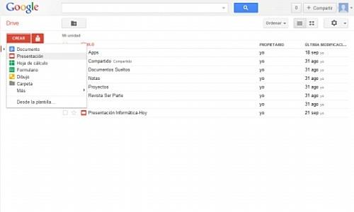crear editar visualizar y descargar presentaciones con google docs