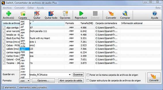 descargar convertidor de musica wav a mp3 gratis en español