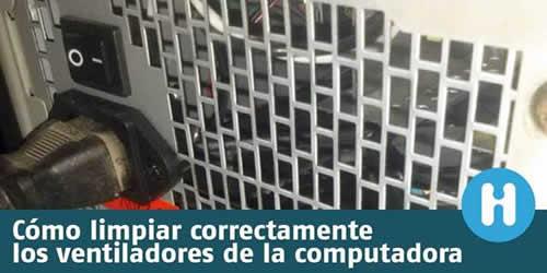 Cómo limpiar correctamente los coolers de la computadora