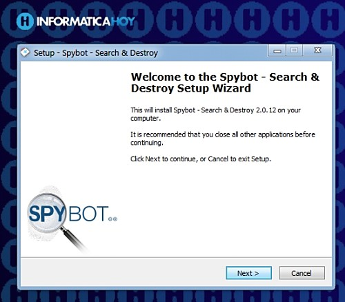 Chau Spyware con Spybot Search & Destroy