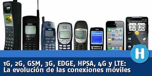 1G, 2G, GSM, 3G, EDGE, HPSA, 4G y LTE